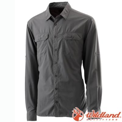 Wildland 荒野 W1202-92中灰 男 可調節抗UV襯衫