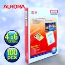 ★AURORA震旦 4x6護貝膠膜100張 P8046A