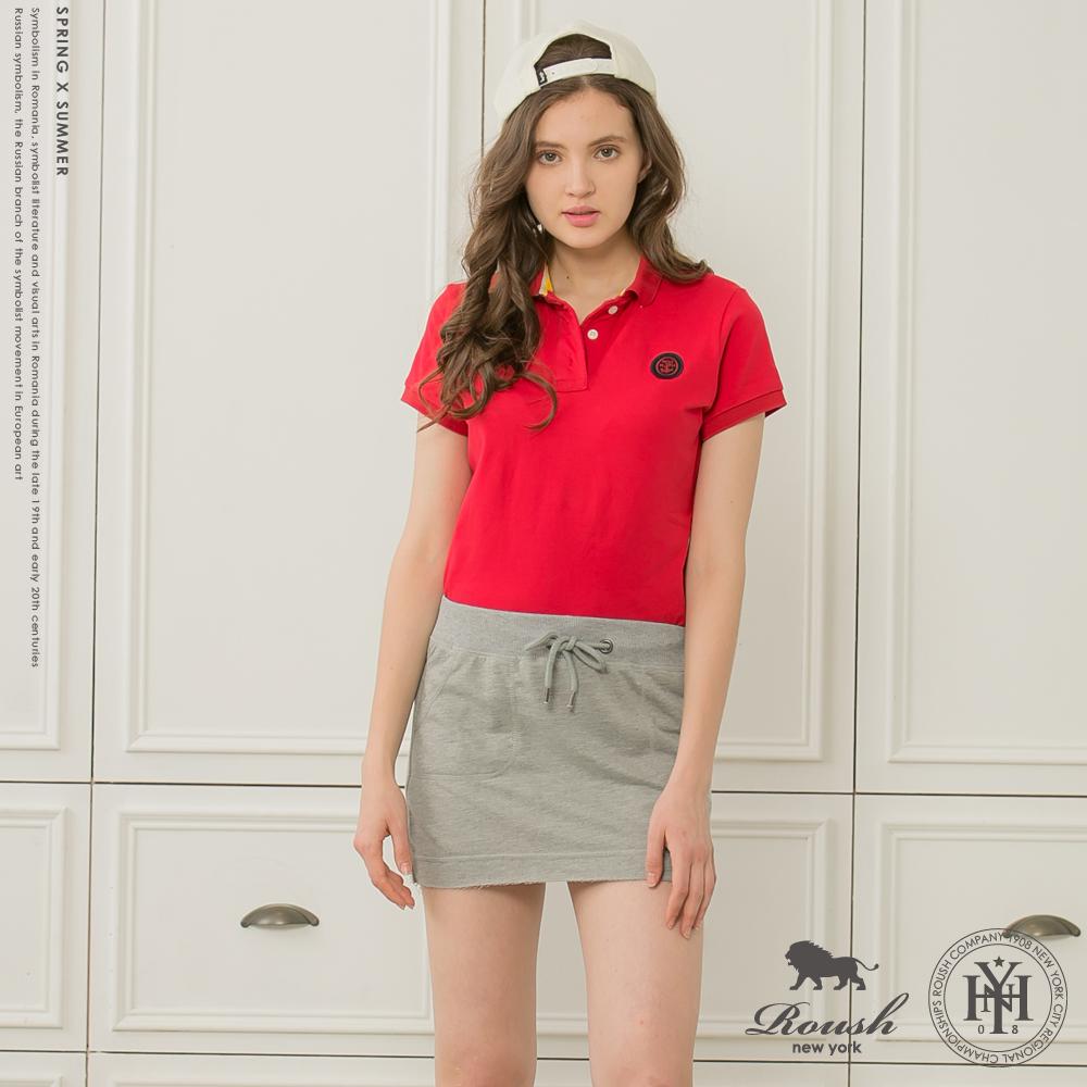 ROUSH女生船錨貼布萊卡棉POLO衫3色