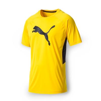 PUMA 男性訓練系列大跳豹短袖T恤-艷黃
