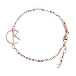CK Calvin Klein CK LOGO手鍊-玫瑰金色