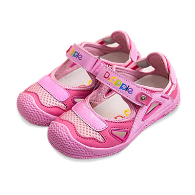 【Dr. Apple 機能童鞋】活潑亮彩護趾休閒鞋 粉