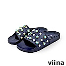 viina-珍珠寶石拖鞋-藍色