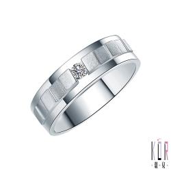 K'OR蔻兒 甜蜜約定 0.08CT鑽石K金男戒指