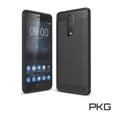 PKG  Nokia8 抗震防摔手機殼-碳纖維紋