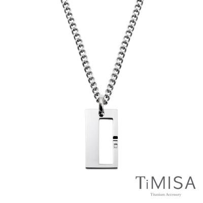TiMISA《扣住幸福-大》純鈦項鍊(M02D)