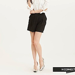 H:CONNECT 韓國品牌 女裝 - 雙色混紗細摺短褲(快)