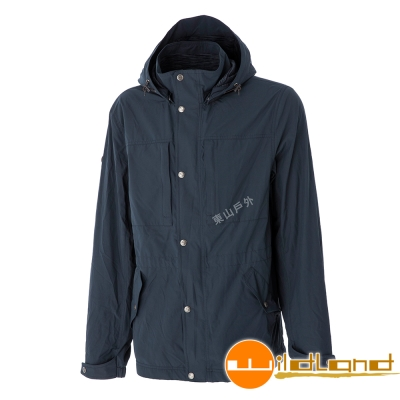 Wildland荒野 0A52906-49深灰藍 男Pile防風保暖外套