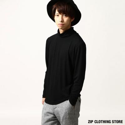 高領長袖T恤ZIP日本男裝