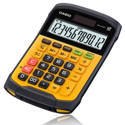 CASIO 12位元 獨特鍵盤分離式防水防塵實用桌上型計算機WM-320MT-大黃蜂潮流配