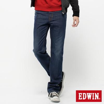 EDWIN-輕鬆俐落-基本五袋高腰中直筒牛仔褲-男款-拔淺藍