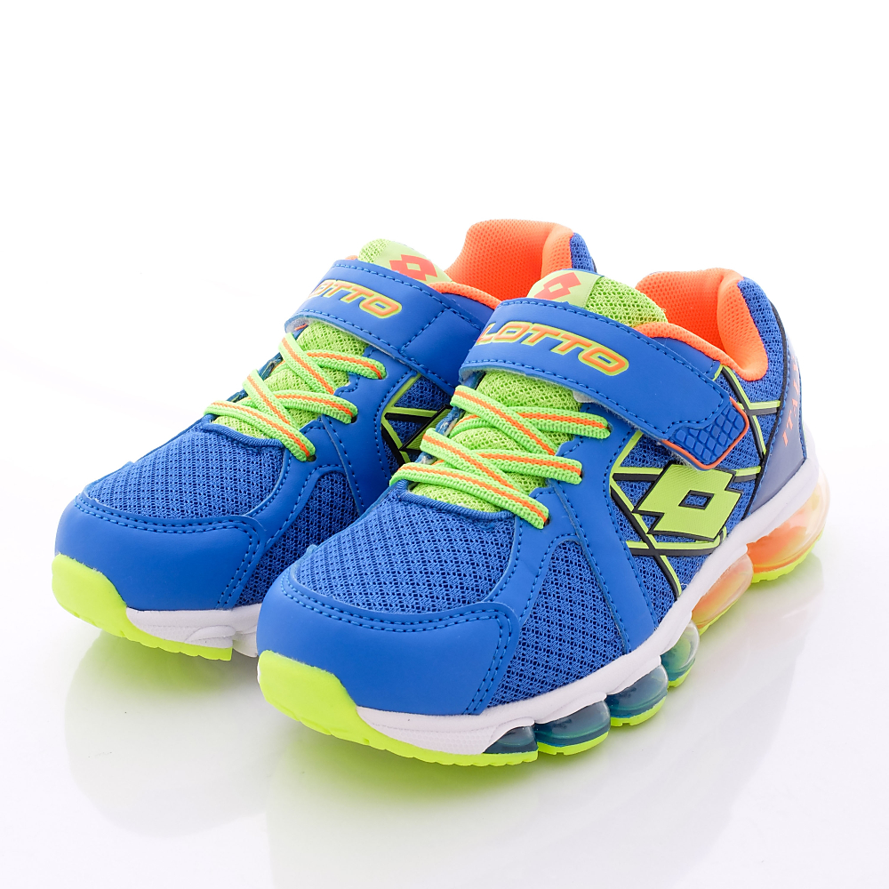 Lotto義大利運動鞋-全氣墊彈力體育款-R2596藍(中大童段)HN