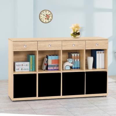 AS-愛寶耐磨橡木<b>5</b>尺原木色多功能置物櫃