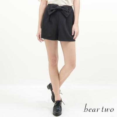beartwo-立體蝴蝶結飾造型鬆緊褲裙-共二色