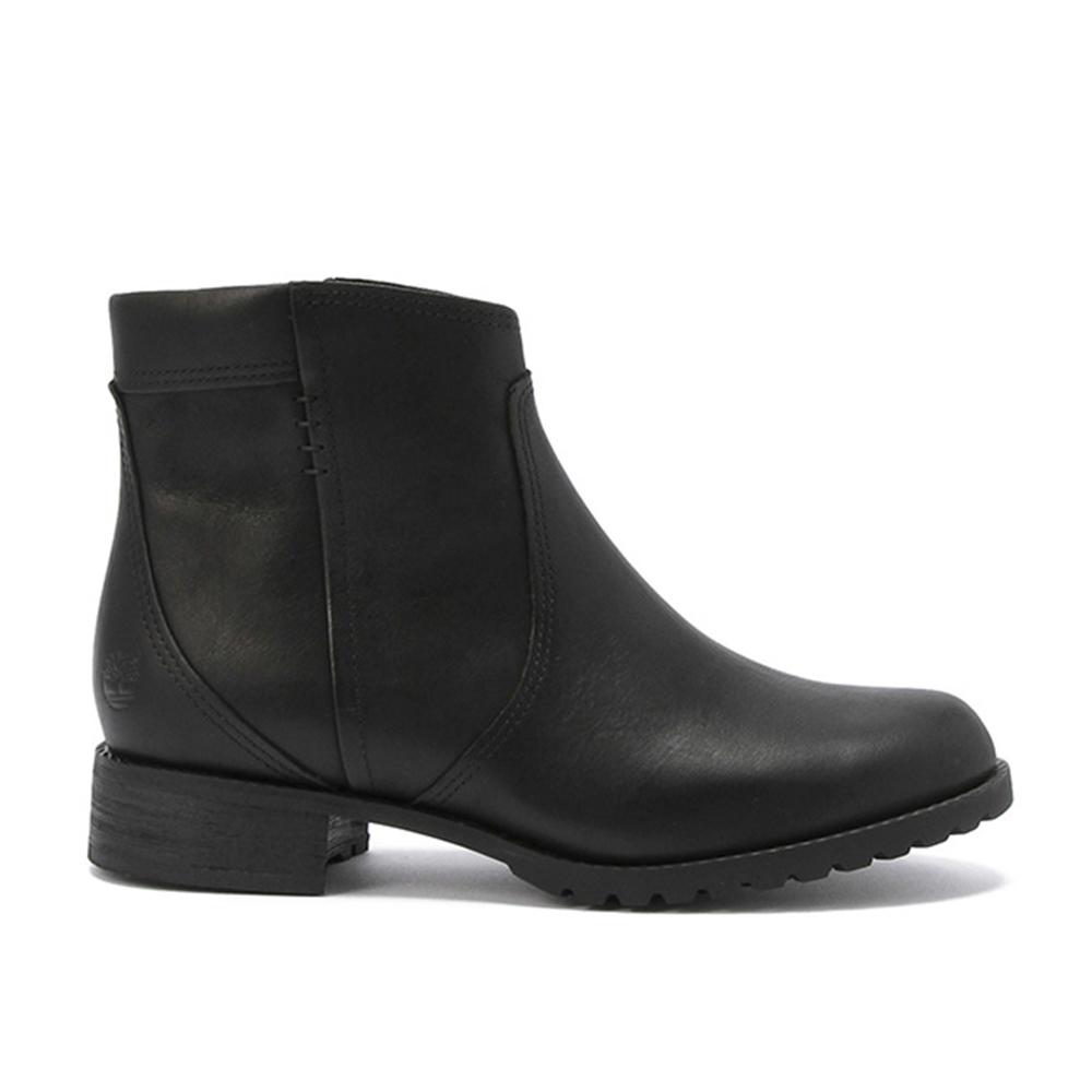Timberland 女款黑色側拉鍊防水踝靴