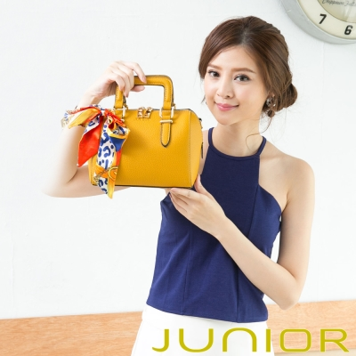 JUNIOR - Elvira艾薇拉俏皮女孩 絲巾手提包-亮眼黃