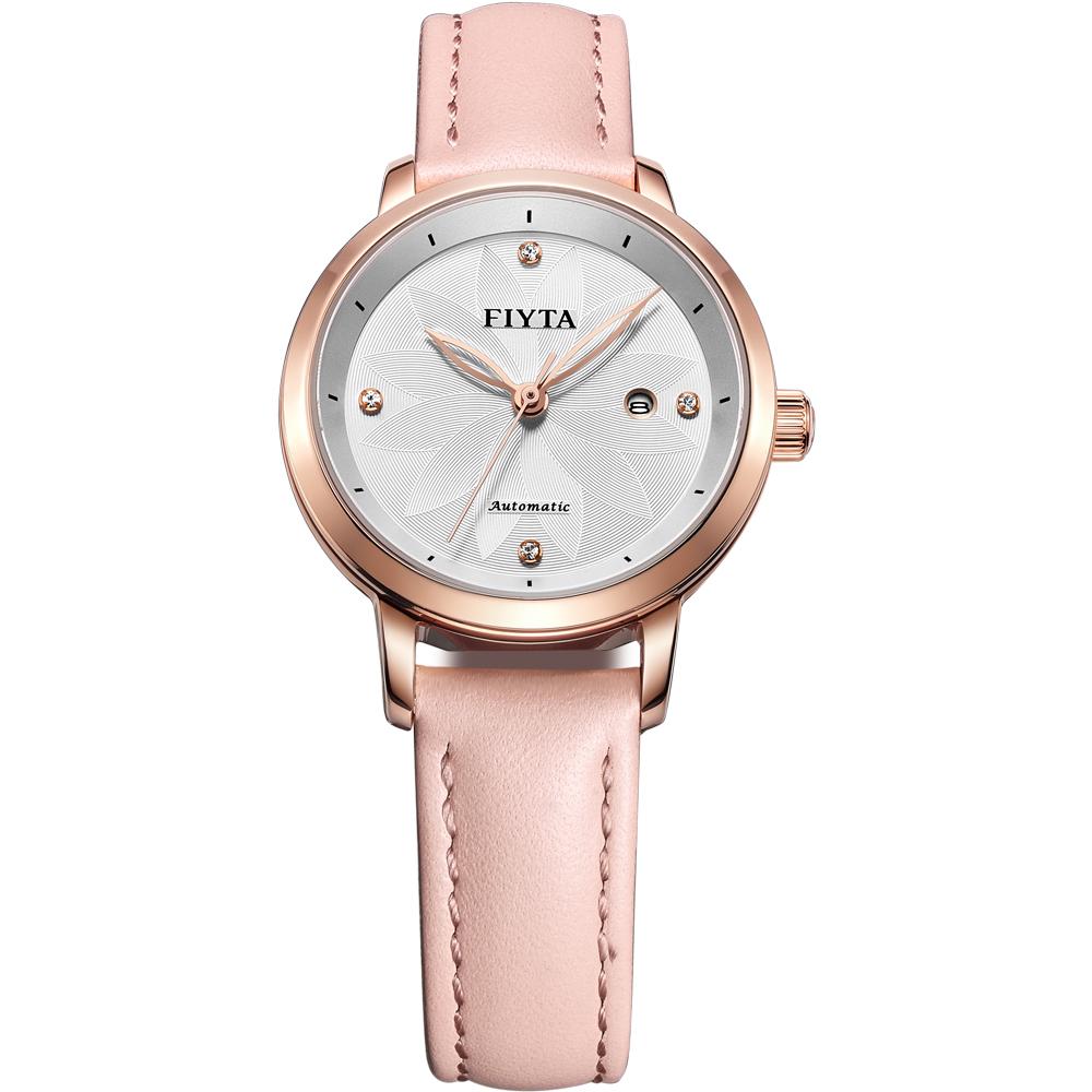 FIYTA飛亞達 花語系列玩美新色機械錶款(LA802008.PWS)-粉色/30.1mm