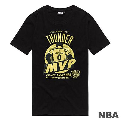 NBA-Russell Westbrook年度MVP紀念短T-黑 (男)