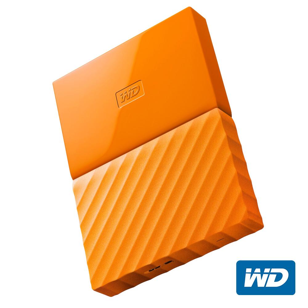 WD My Passport 2TB 2.5吋行動硬碟(橘色/薄型)