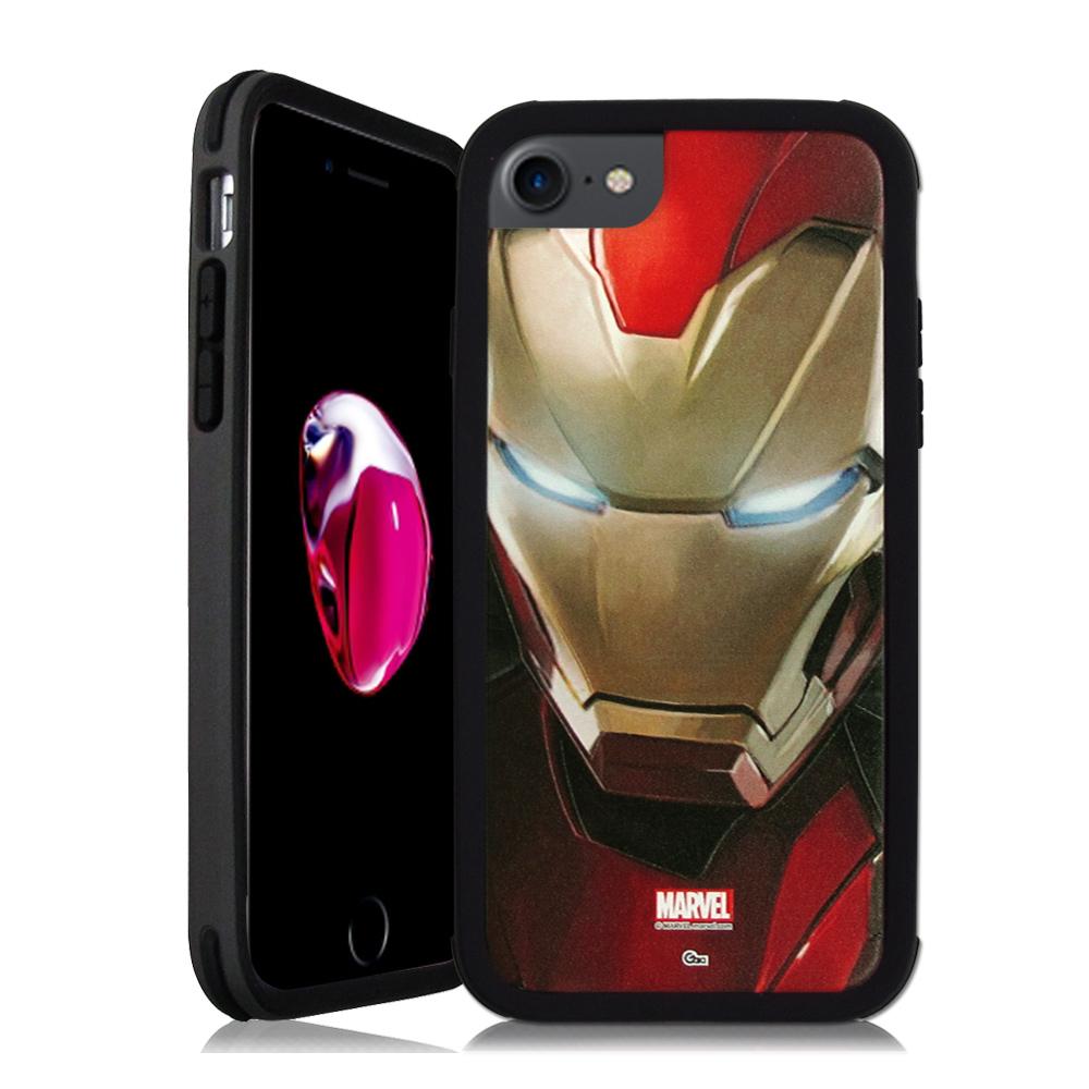 MARVEL漫威&SOLiDE iPhone 7 4.7吋 軍規防摔手機殼(鋼鐵人)