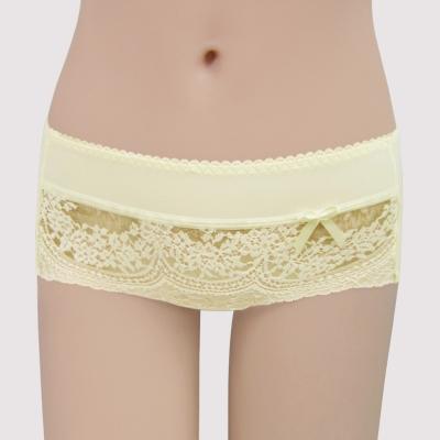 曼黛瑪璉 集中穩定V極線  低腰平口內褲(柔黃)