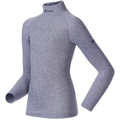 【瑞士 ODLO】新款 effect 兒童長袖保暖排汗內衣.高領衛生衣/深麻灰