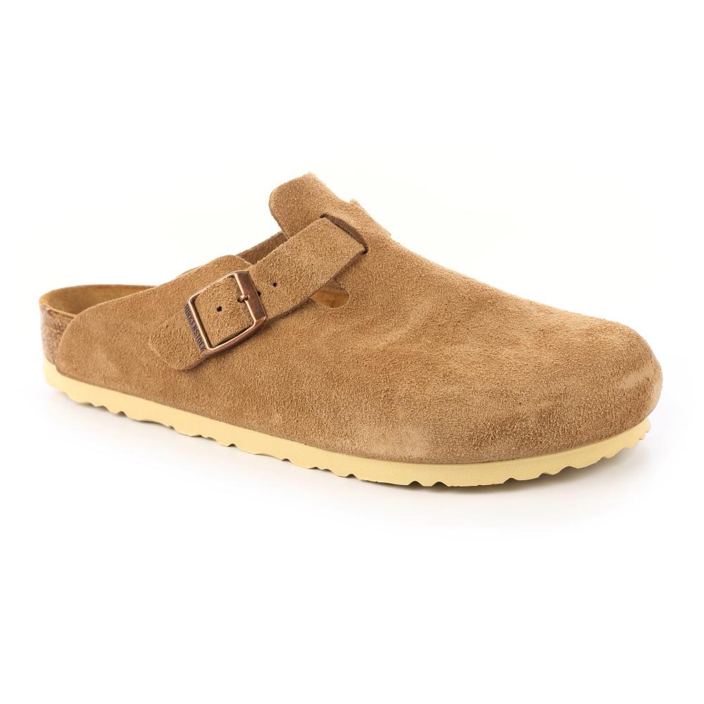 勃肯BIRKENSTOCK 059311。波斯頓 包頭拖鞋(淡棕色)