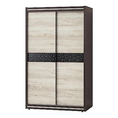 品家居 伊蒂絲4尺雙推門二抽衣櫃-120x56x202cm免組