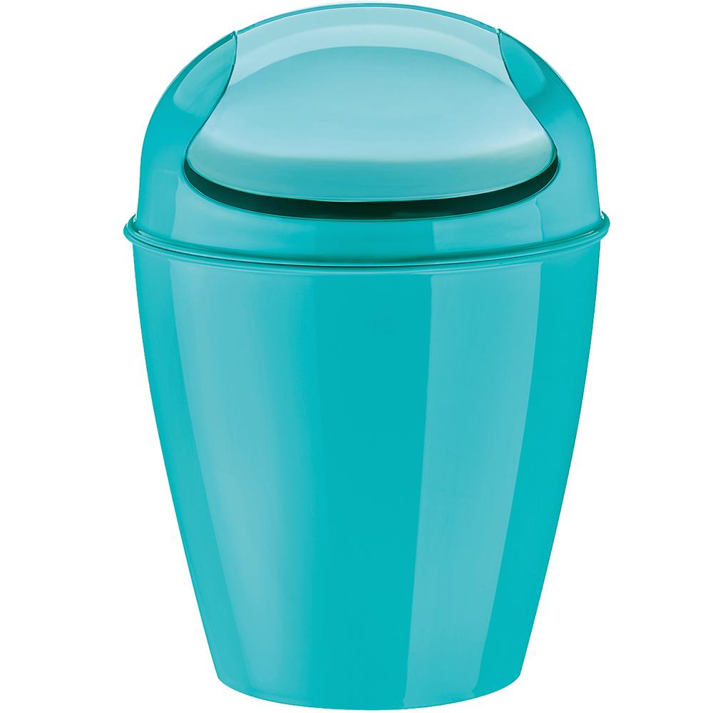 KOZIOL 搖擺蓋垃圾桶(湖綠XS)