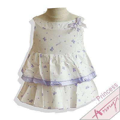 甜美蝴蝶結印花蛋糕上衣*紫