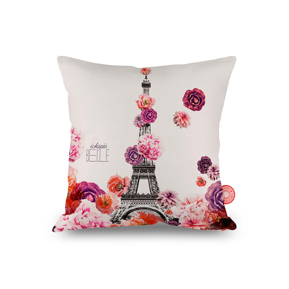 法國麥卡諾茲-靠墊(花巴黎鐵塔)-含芯