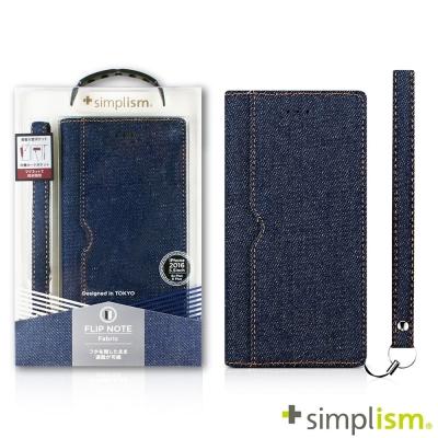 Simplism iPhone7 Plus 5.5吋用 記事本型側掀蓋翻布面保護...