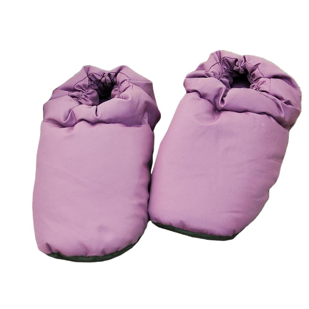 亞曼達Amanda 天然羽毛保暖拖鞋 居家鞋 羽絨鞋(紫)-快速到貨