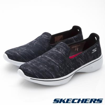SKECHERS (女) 健走系列GO Walk 4 - 14164BKW