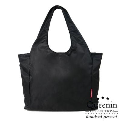 DF Queenin - 小資時尚百搭質感尼龍肩背包-共2色