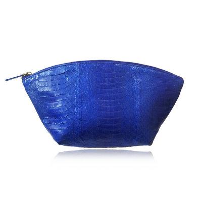 ACUBY 限量單品手工蛇皮水餃包/寶石藍