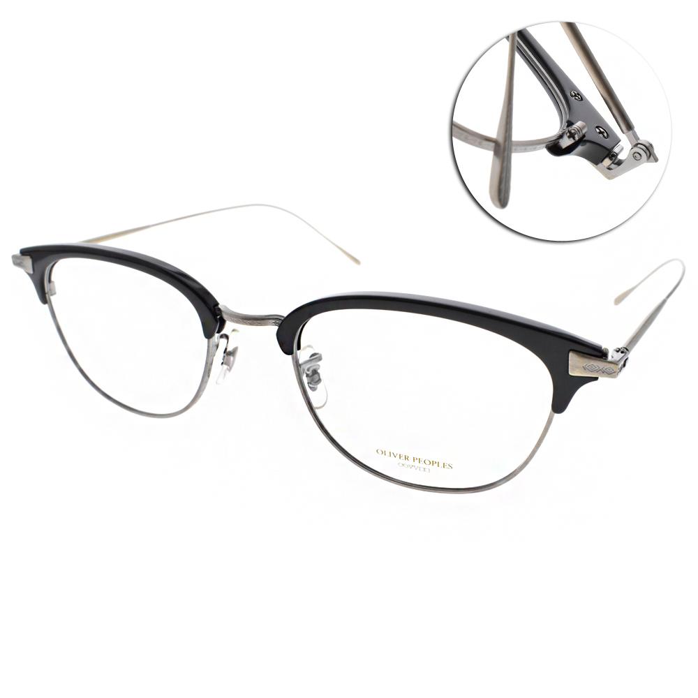 OLIVER PEOPLES眼鏡 日本手工框/黑-銀#ERVIN 5076