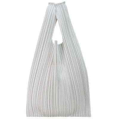 ISSEY MIYAKE 三宅一生PLEATS PLEASE 褶皺購物袋(灰白)