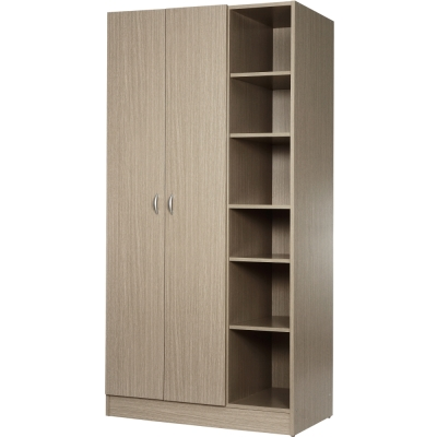 EASY HOME 二門六層收納衣櫥-秋香色