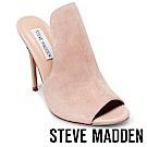 STEVE MADDEN-SINFUL 魚口高跟涼拖鞋-絨裸