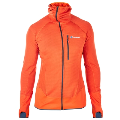 【Berghaus 貝豪斯】男款POLARTEC銀離子保暖連帽外套H22M36-橘