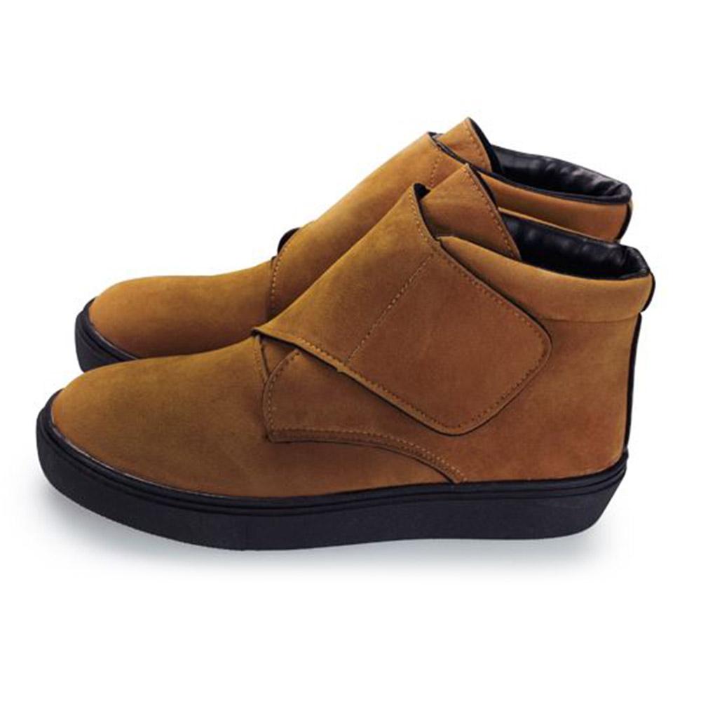 FUFA  MIT  絨毛黏帶馬靴 (FA63) 棕色