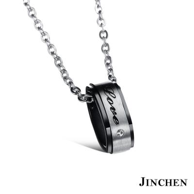 JINCHEN 白鋼LOVE 情侶項鍊
