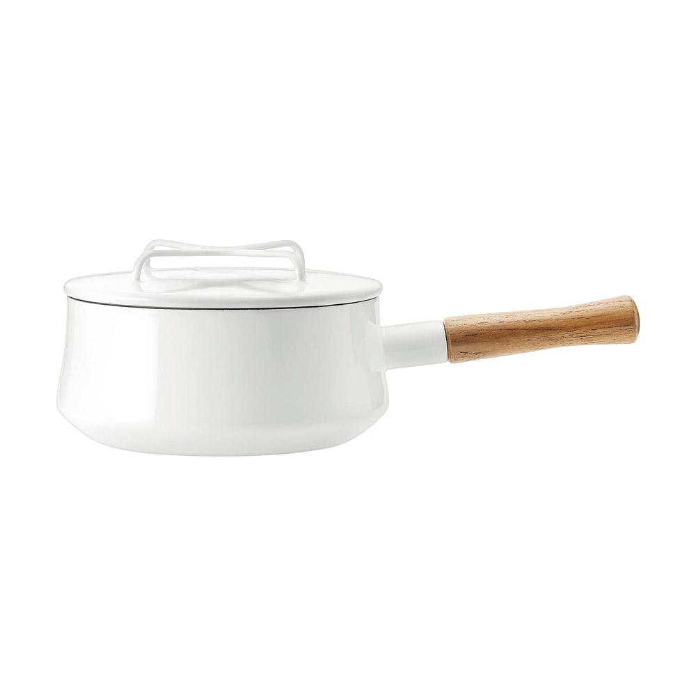 DANSK琺瑯單耳燉煮鍋白色
