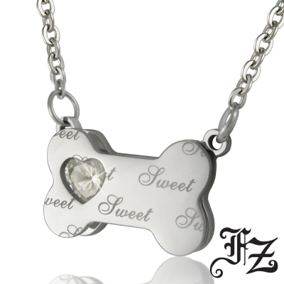 FZ  甜蜜骨頭白鋼項鍊