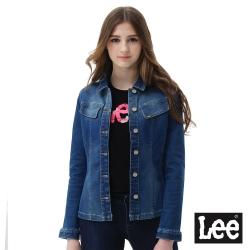 Lee 連牛仔外套-女款-藍色