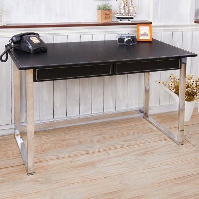 澄境 經典加厚低鉛馬鞍皮革工作桌(120x60x76.5cm)-DIY