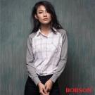 BOBSON  女款異素材襯衫-白色