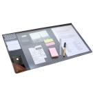 Seeso 極簡辦公皮紋收納桌墊V2-鐵灰