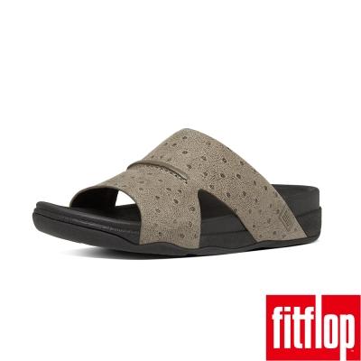 FitFlop TM-BANDO TM LEATHER SLIDES-淺木色